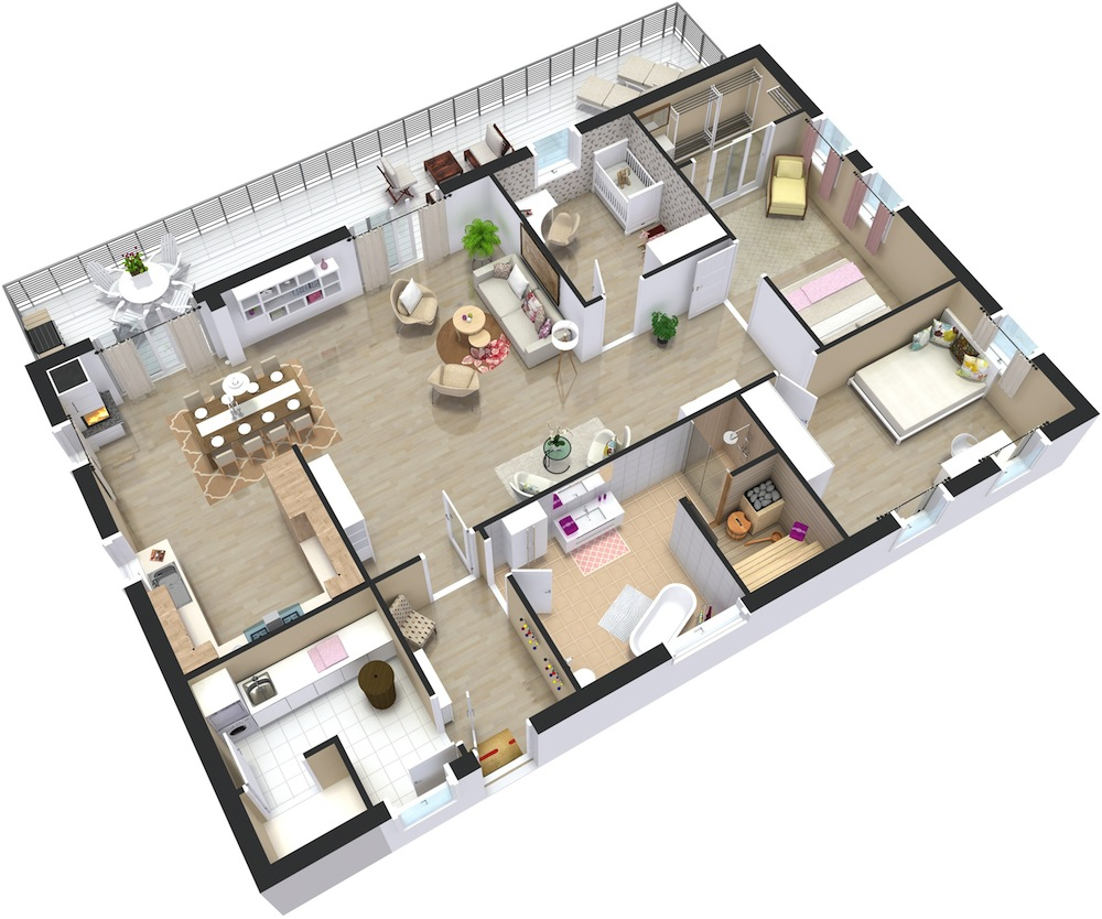 An architect reveals how to read floor plans homequest - Planner bagno 3d ...